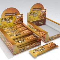 Almond Bar - Snack Bar Almond crunchy rasa Chocolate Chips