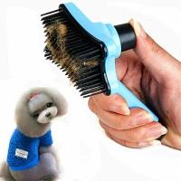 Sisir Bulu Hewan Peliharaan Anjing Kucing Easy Clean Push Grooming Pet