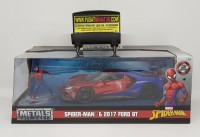 SPIDER MAN & 2017 FORD GT - SKALA 24 - JADA MARVEL (DIECAST)