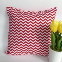 Cushion cover / Sarung Bantal - Red chevron
