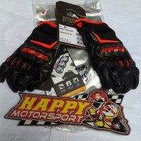 Sarung tangan glove merk DAINESE Carbon D1 Short blck/blck/red size M