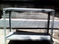 Rak Besi Siku Lubang Ukuran P100 X L40 X T80 Cm - 2 ambalan