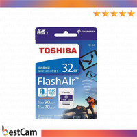 Memory Toshiba SDHC 32GB Flash Air 4K Class 10 Wi-fii Card