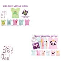 Kazel Tshirt PANDA MERMAID 6 PCS (1 BOX)
