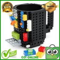 Gelas Mug Lego Brick Puzzle 350ml Capacity Food Grade Plastic Material