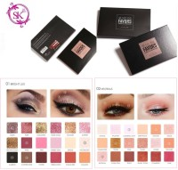 FOCALLURE FA40 FAVOR Pro 18 Colors Glitter Matte Smokey Eye Shadow