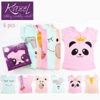 KAZEL TSHIRT PANDA GIRL ( 1 BOX = 6 PCS )