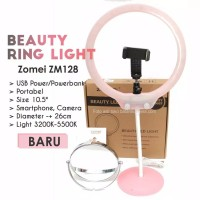 Baby ring light Zomei with mirror / mini ringlight dimmer usb