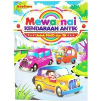 Buku Edukasi Anak PAUD TK Mewarnai Kendaraan Antik