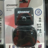 travel charger krisbow | adaptor | buy 1 get 1