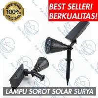 LAMPU SOROT SOLAR CELL TENAGA SURYA DINDING TAMAN TERAS SERBAGUNA S695