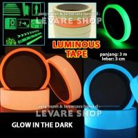 Luminous Tape Stiker Solatip Lakban Fosfor Glow in the Dark 3 x 300 cm