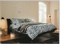 Sprei KATUN JEPANG PREMIUM / KING Tinggi 40cm / Leopard Black & White