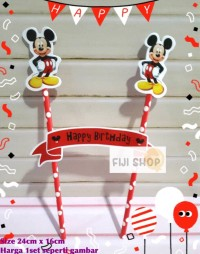 Cake Topper / Hiasan Kue Ultah / Topper Cake Karakter Mickey Mouse