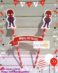 Cake Topper / Hiasan Kue Ultah / Topper Cake Karakter Spiderman