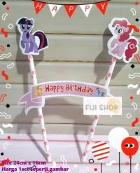 Cake Topper / Hiasan Kue Ultah / Topper Cake Karakter Little Pony