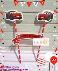 Cake Topper / Hiasan Kue Ultah / Topper Cake Karakter Cars