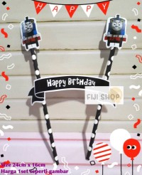 Cake Topper / Hiasan Kue Ultah / Topper Cake Karakter Thomas & Friends