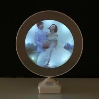 Cermin Magic dengan Photo Frame - White