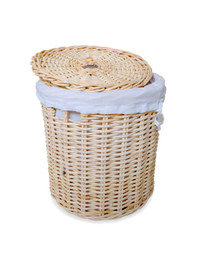 Rovega Keranjang Baju dari Rotan dengan Lapisan Kain / Laundry Basket