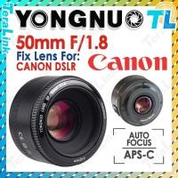 Yongnuo 50mm F/1.8 lensa Fix 50mm Auto Fokus for Canon DSLR Camera