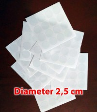 Stiker Vinyl Bulat Transparant Polos (Sticker Bundar) diameter 2,5 cm