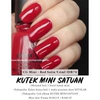 ORIGINAL CHINA GLAZE MINI RED SATIN 9.6ML MINIMAL BELI 2 KUTEK MINI