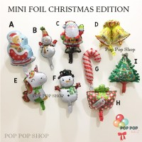Balon Foil Mini Christmas Edition / Xmas Natal