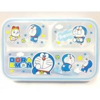 Kotak Makan Bekal Grid Bento Lunch Box Yooyee Doraemon Warna Biru