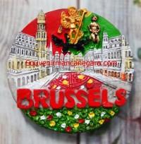 Tempelan Magnet Brusels Souvenir Belgia