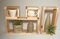 Papan Rak Kayu Gantung Kotak Tempat Serbaguna Wooden Dekorasi Dinding