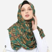 Anakara Batik Muslim- Headscarf Pashmina Fleur De Bambou- Hijau