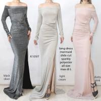 LongDress Sabrina Pesta Singer kondangan - Sequin Mermaid Gliter K1097
