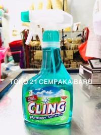 Cling Pembersih Kaca APPLE FRESH Semprot 440 ml | Cling Spray 440ml