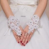 Sarung Tangan Brokat Bridal Modern l Wedding Gloves - STB008