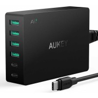 Aukey Charger USB 4 Port+2 Port Type C 60W QC3.0 & AiPower - PA-Y6