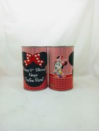 Celengan kaleng cantik custom design gratis 2 pcs min order 34