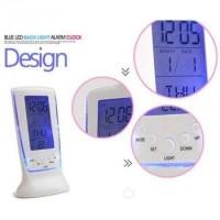 Jam Alarm digital Clock LED Temperature Suhu Calender Display Moody Ok