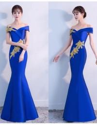 Gaun Pesta Sabrina Mermaid - Long Dress Bordir Bunga BridesMaid LB09