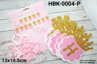 HBK-0004-P Bunting flag bendera banner happy birthday girl princess