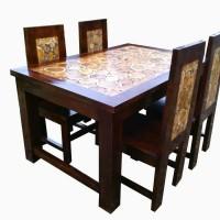 meja makan kayu jati alas asli