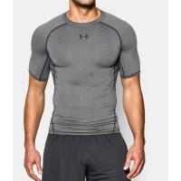 Under Armour UA HeatGear Original Compression Shirt Baselayer Abu Gray