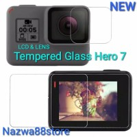 Lcd with Lens Screen Protector Tempered Glass Gopro Hero 7