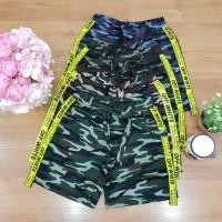 hotpants army/celana pendek wanita corak army/celana pendek santai cwe