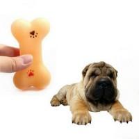 Terbaru - mainan anjing tulang plastik gigitan karet dog toy sque