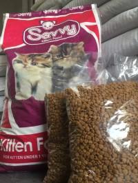 Makanan kucing - Savvy Kitten Repack 1kg