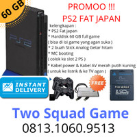 SONY PLAYSTATION 2 ( PS2 ) FAT JAPAN 60GB+2 STICK ANALOG GETAR