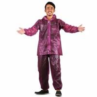 Jas Hujan Jaket dan Celana Transparan 700 Plevia Stelan Raincoat