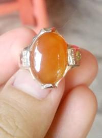 Cincin Akiq Yaman pinggiran batu ruby dan dzabarjad+ Kotak/box cincin