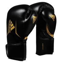 Sarung Tinju Adidas Speed 100 Boxing Gloves Black Gold